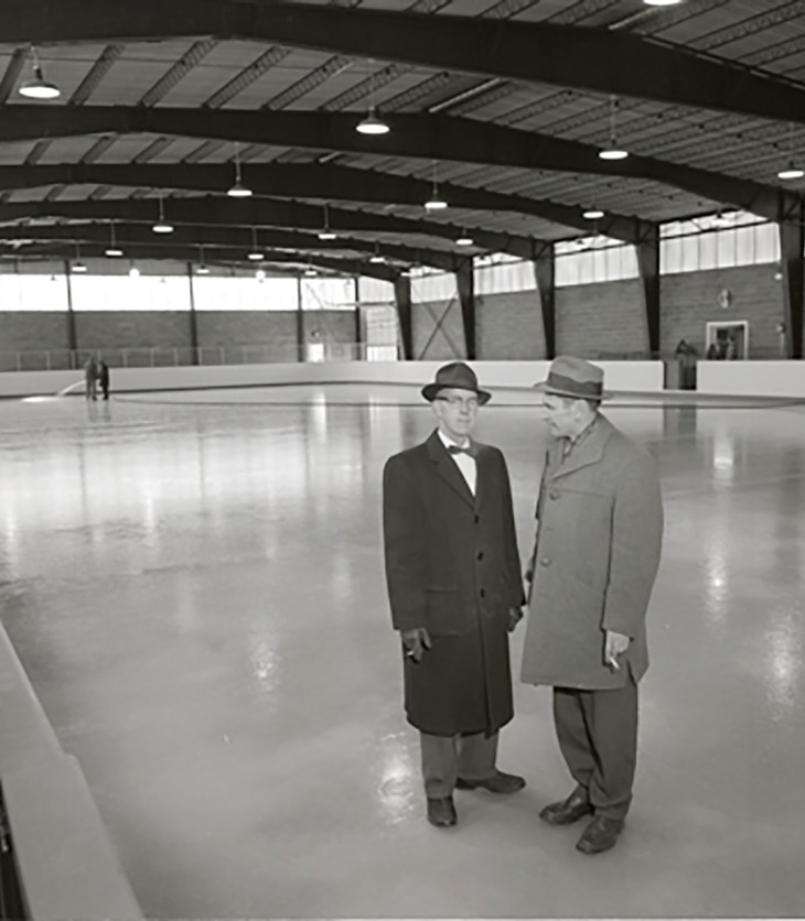 The Elmgrove Arena on opening day of skating, December 23 1959.