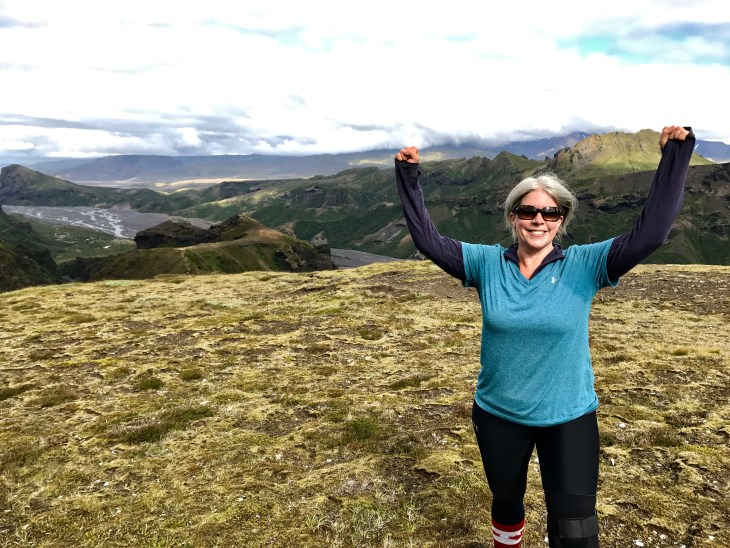 Jennifer Stewart hiked in Iceland as part of a Royal Lepage fundraiser.