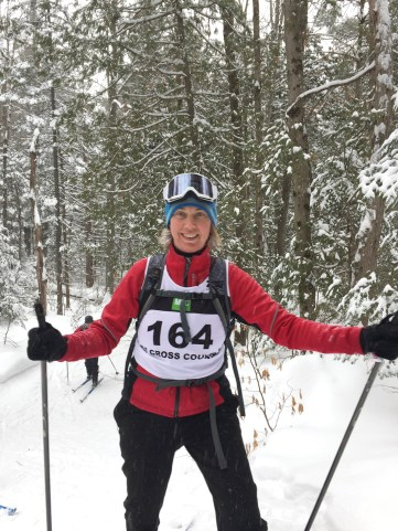 Astrid Nielsen, seen here during a cross-country skiing race, is excited to explore South American culture and archeology while supporting a cause that helps others.