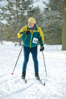 John Lawson takes part in a cross-country ski race.