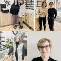 The team at Wellington Vision Care, a participating business in the LOVE.WellingtonWest.ca crowdfunding campaign. Photo courtesy of the Wellington West BIA.