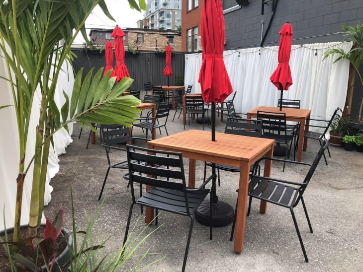A photo of Fratelli's restaurant's new patio in Westboro Village.