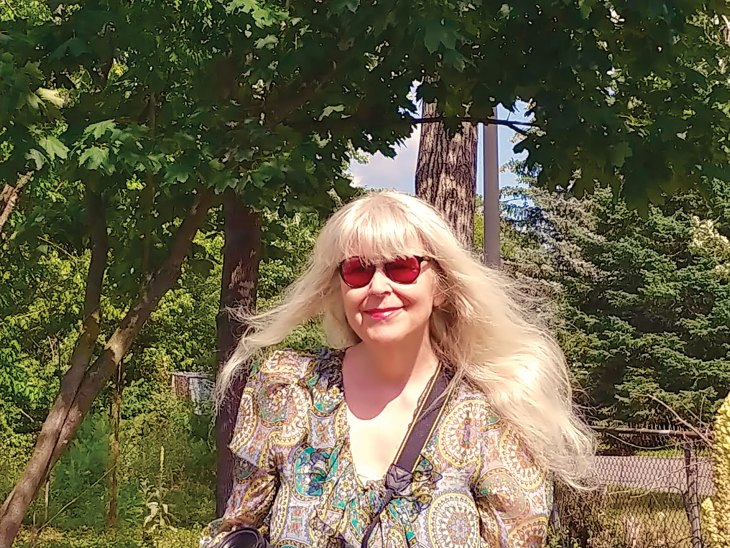 A photo of Nancy Mooney near Westboro Beach in Ottawa, ON.