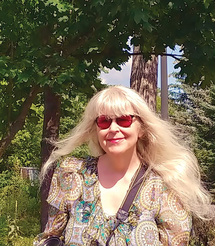 A photo of Nancy Mooney near Westboro Beach in Ottawa, ON.