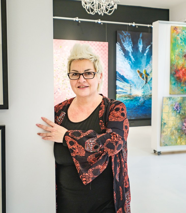Sylvette Briere inside the new NAK Gallery on Wellington West.
