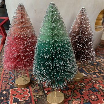 Brush Bottle Trees! These delicate brush bottle trees will add just the right amount of sparkle to any home. Photo courtesy of Lot 7.
