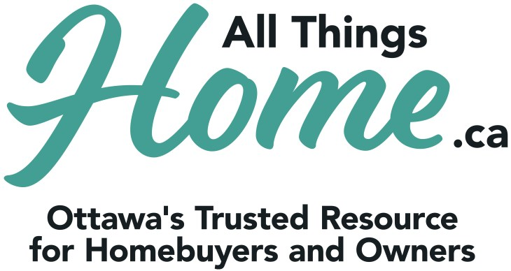 The green and black text logo of All Things Home against a white background