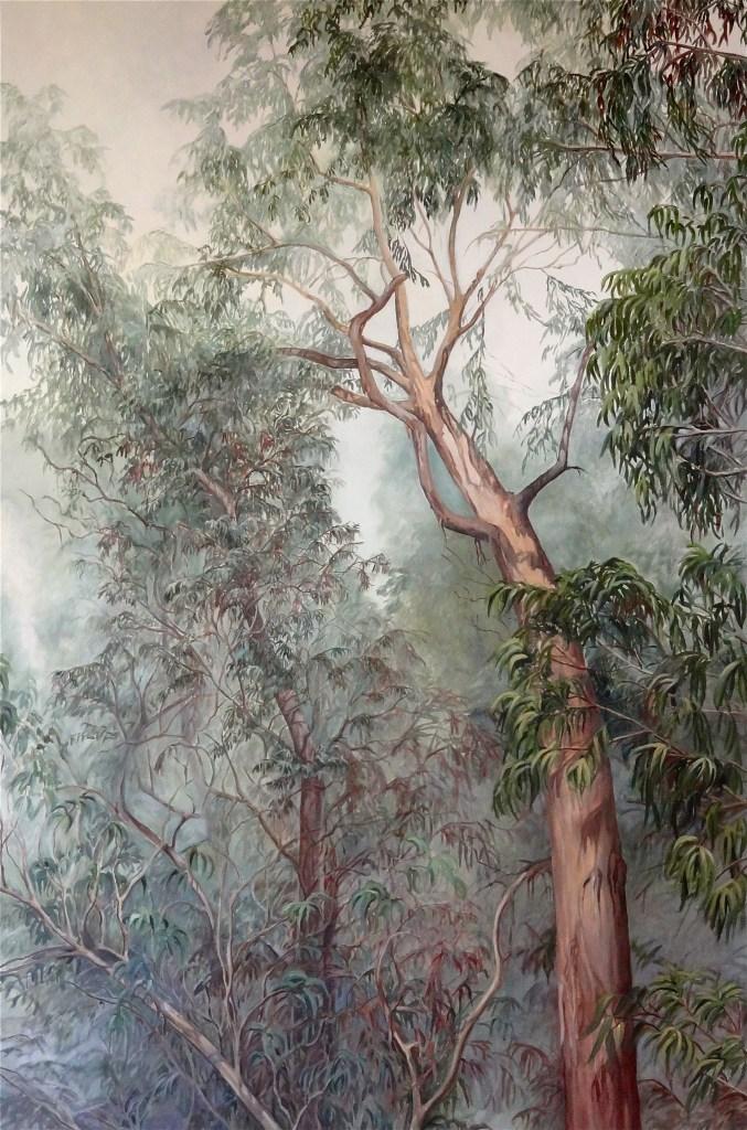 Eucalyptus Tree - 60 x 40 in - oil on canvas