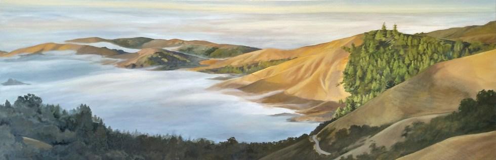 Morning Fog from Skyline West - Oil on Canvas