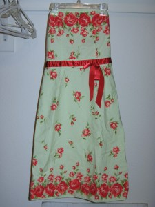 The strapless dress I started with.