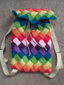 InfiniKnits' knit backpack