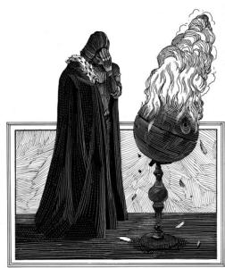 One of the wonderful illustrations from William Shakespeare's Star Wars; illustration by Nicolas Delort