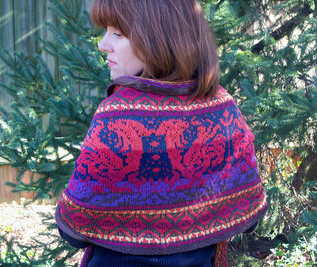 Dragon Ride Shawl by Kathleen Taylor