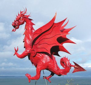 Welsh Red Dragon made by Kate Higgins of Flamingo Incognito