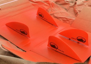 Spray painted fins