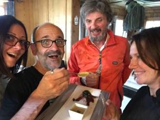 Con Davide, Roberto e Fabrizia