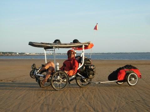 Laurent Ness en trike et kitefoil