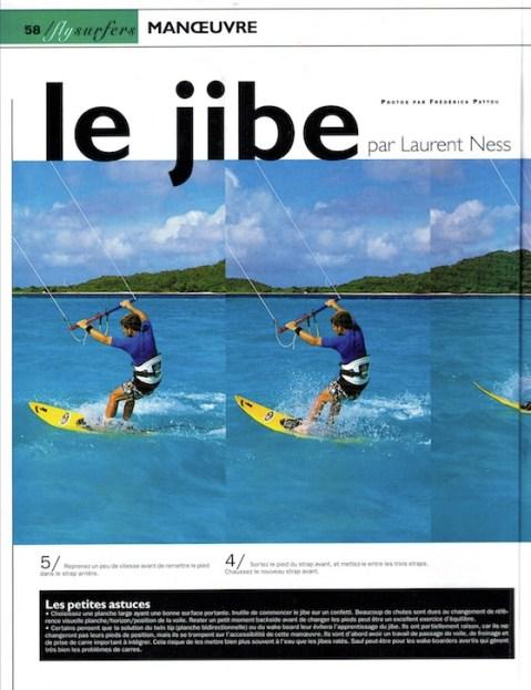 article pédagogique expliquant le jibe en kitesurf