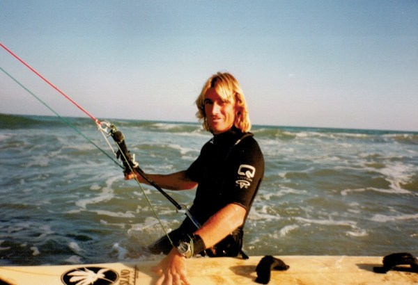 premiers élèves de kitesurf en 1997