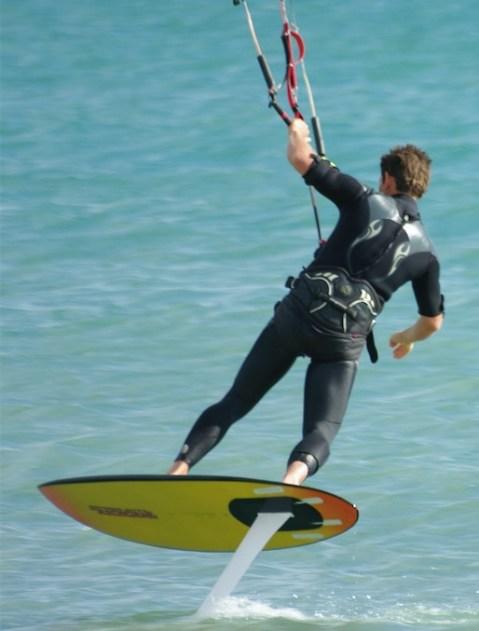 débuts de Laurent Ness en kitefoil