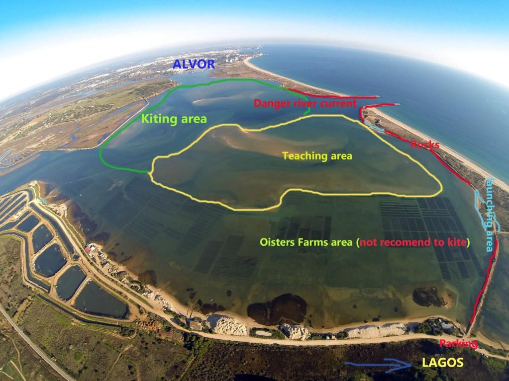 kitesurfing lagoon of Alvor