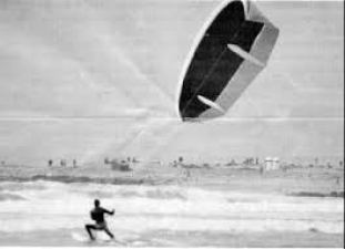The first kitesurfers