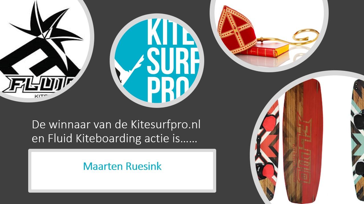 Winnaar Fluid Kiteeboarding pakjesavond bekend