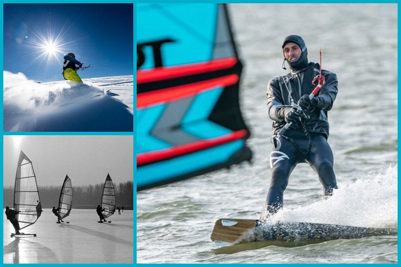Kitesurfen februari. Of toch maar gaan snowkiten of ijskiten?