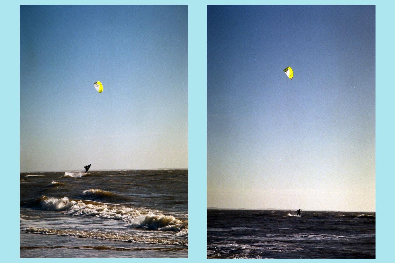 Kitesurfen in de beginjaren