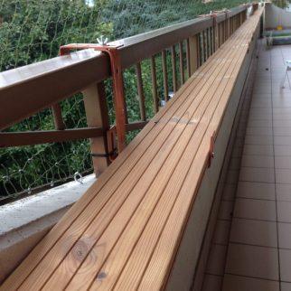 Un aménagement réalisé par l'un de nos clients après l'installation du filet.