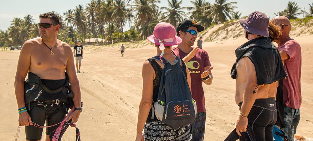 Kitesurf, ceara, brasil