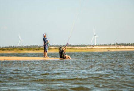 Aula de kitesurf com Kitexperiment