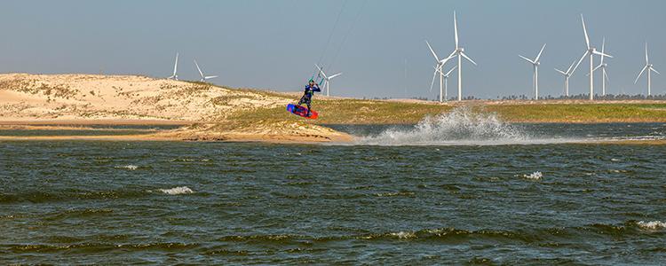 kitesurfing jumping é a base