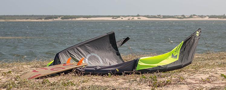 Lagoa de patos aperfeiçoamento do kitesurf