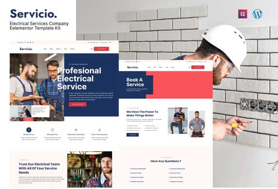 ThemeForest - Servicio v1.0.0 - Electrician & Electrical Services Template Kit - 33107659
