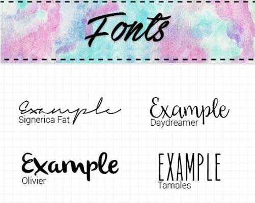 16 Signature Fonts Collection