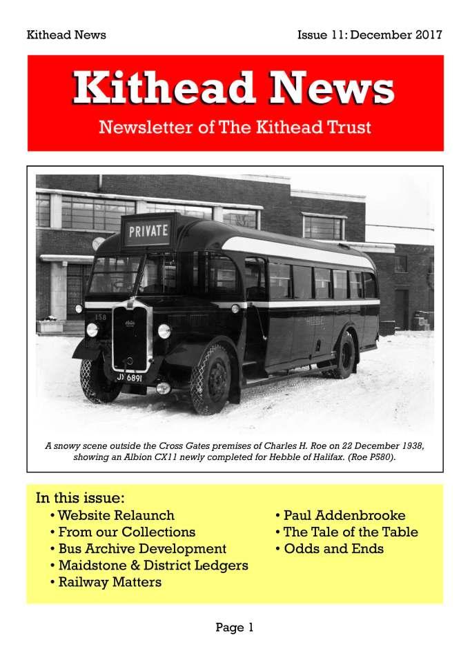 Kithead Newsletter 11 December 2017