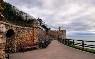 January in Sidmouth: a view from the shore