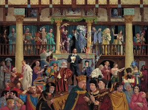 All The World's a Stage, James C. Christensen