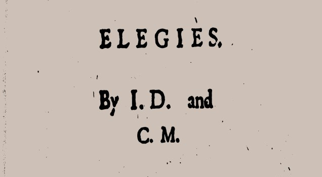 "An image of the title page for ""Epigrammes and Elegies"" by John Davies and Christopher Marlowe."
