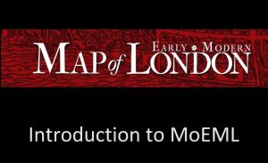 The header for the Map of Early Modern London.