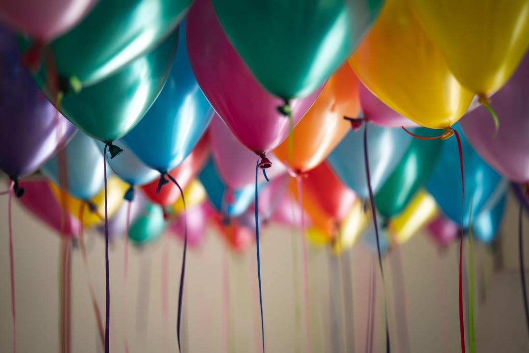 Image of multicolored balloons.