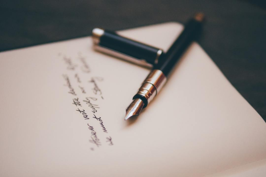 image of black and silver fountain pen