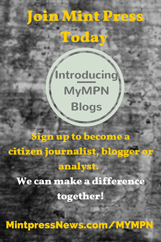 Join Mint Press News as a blogger -- ask me how!