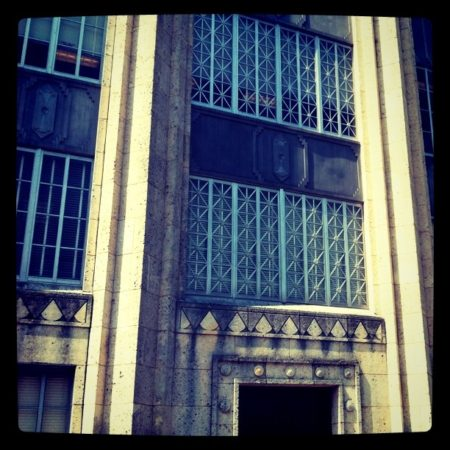 A detail of the face of the Travis County Courthouse, stained by years of pollution and weather. July 5, 2011. (Flickr / Rafael Marquez)