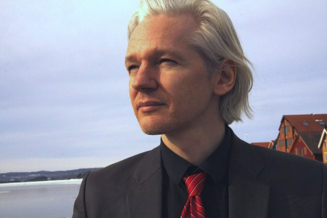 Julian Assange, photographed by the ocean on March 20, 2010. (Flickr / Espen Moe)