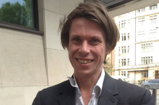 Lauri Love at his extradition hearing. June 28, 2016. (Twitter / @NoLove4USGov)