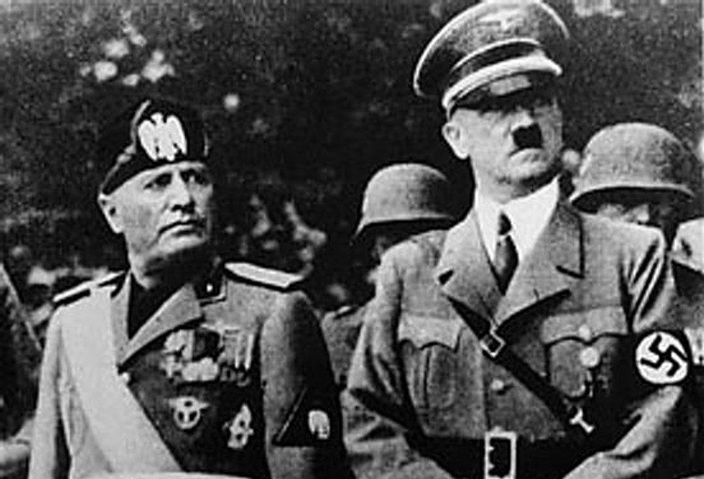 Benito Mussolini and Adolf Hitler, 1937. (Wikimedia Commons / United States Holocaust Memorial Museum / Muzej Revolucije Narodnosti Jugoslavije)