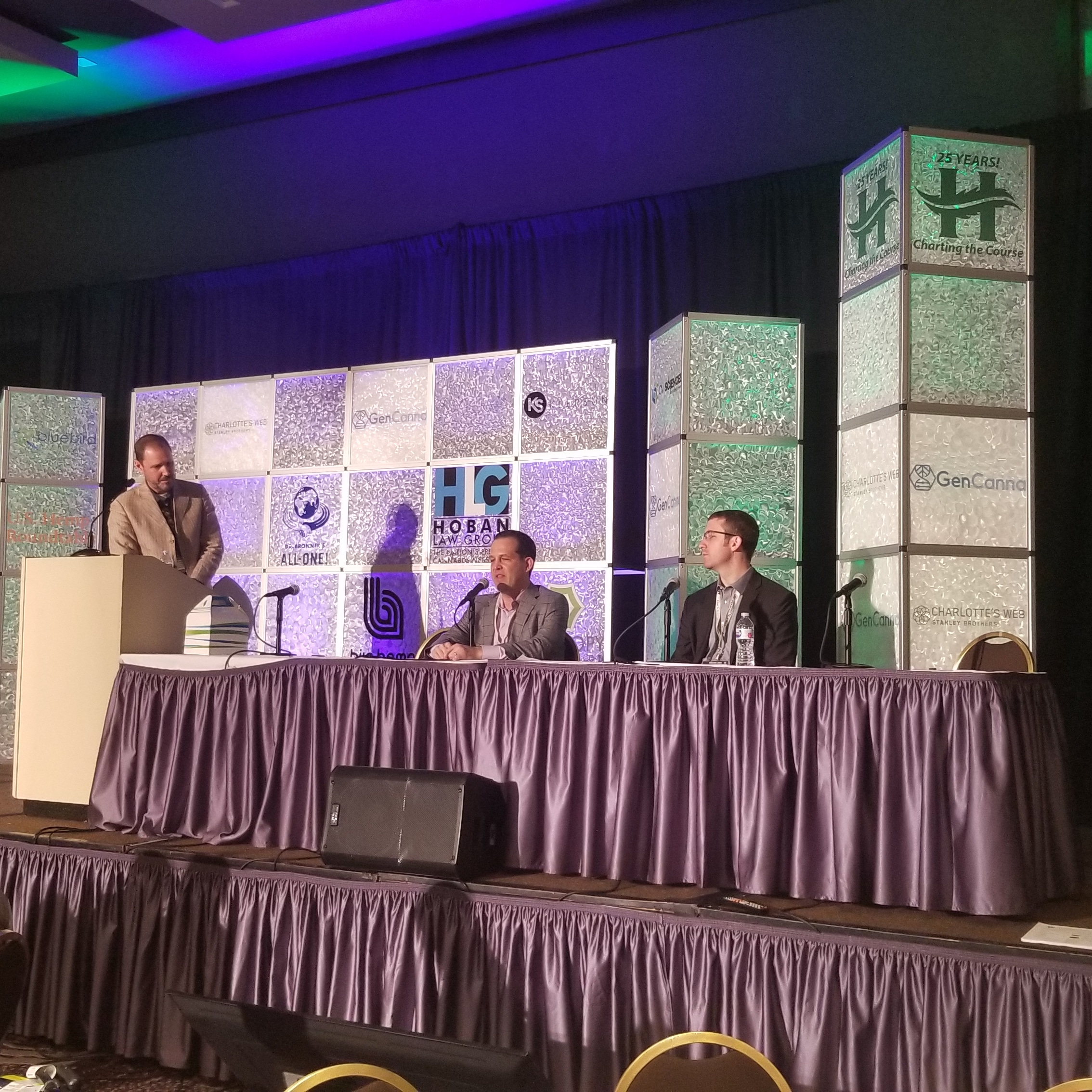 Representatives of U.S. Hemp Roundtable and Hoban Law Firm discussed hemp's legal future at the 2018 Hemp Industries Association Conference in Los Angeles.