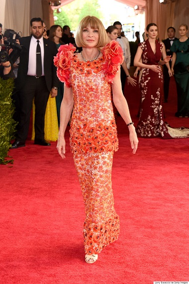 "NEW YORK, NY - MAY 04: Editor-in-Chief of Vogue Anna Wintour attends the ""China: Through The Looking Glass"" Costume Institute Benefit Gala at the Metropolitan Museum of Art on May 4, 2015 in New York City. (Photo by Larry Busacca/Getty Images)"